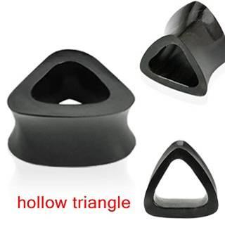 Plug do ucha - dutý trojuholník - Dĺžka: 10 mm, Hrúbka: 14 mm