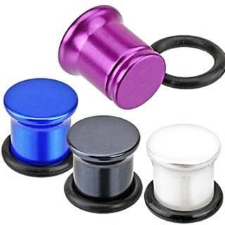 Metalický plug do ucha z akrylu - perleťové farby - Hrúbka: 10 mm, Farba: Biela