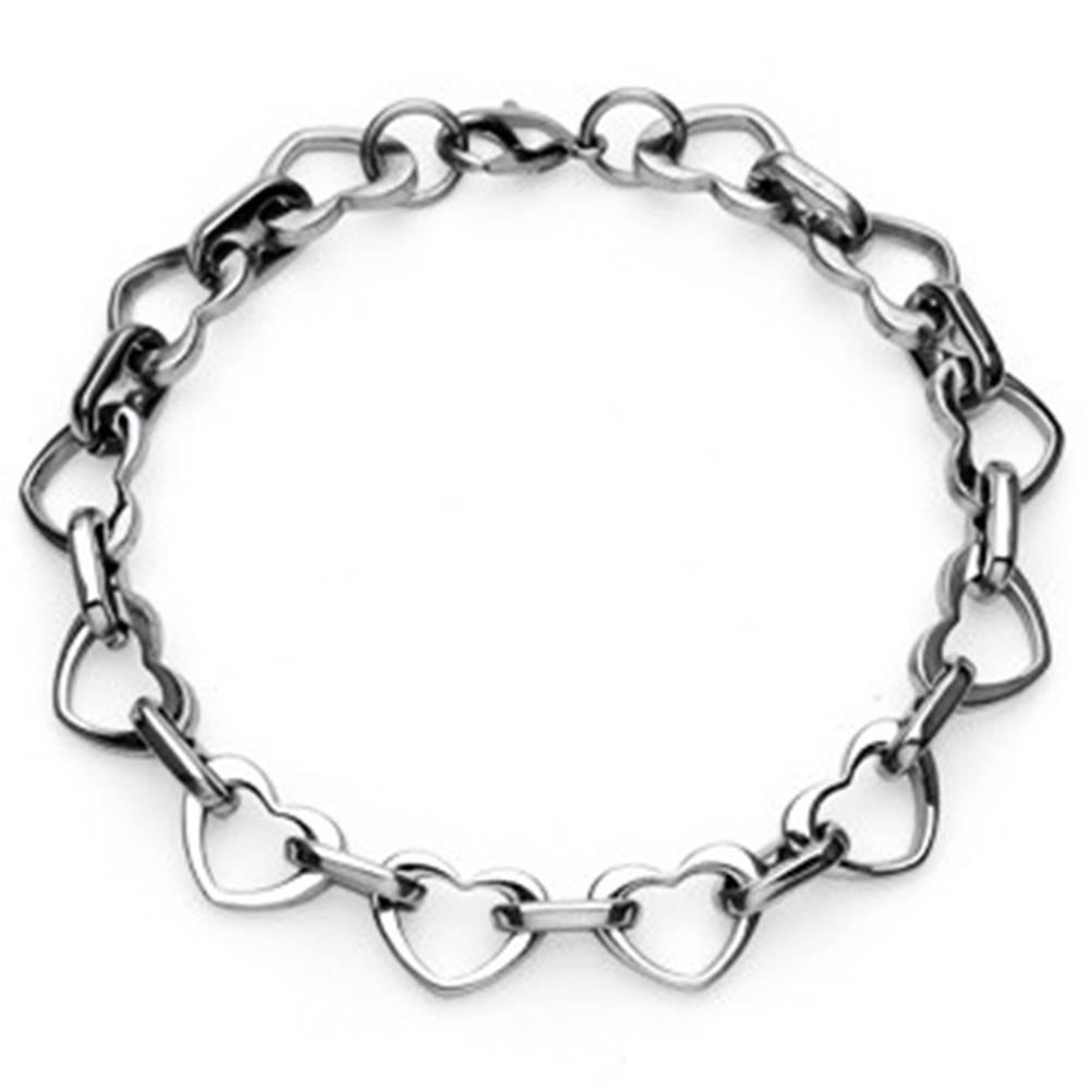 Šperky eshop Náramok z chirurgickej ocele - srdiečka