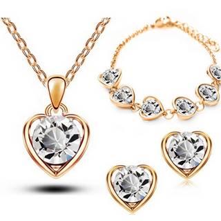 Set Love Heart - Zlatá/Kryštálová