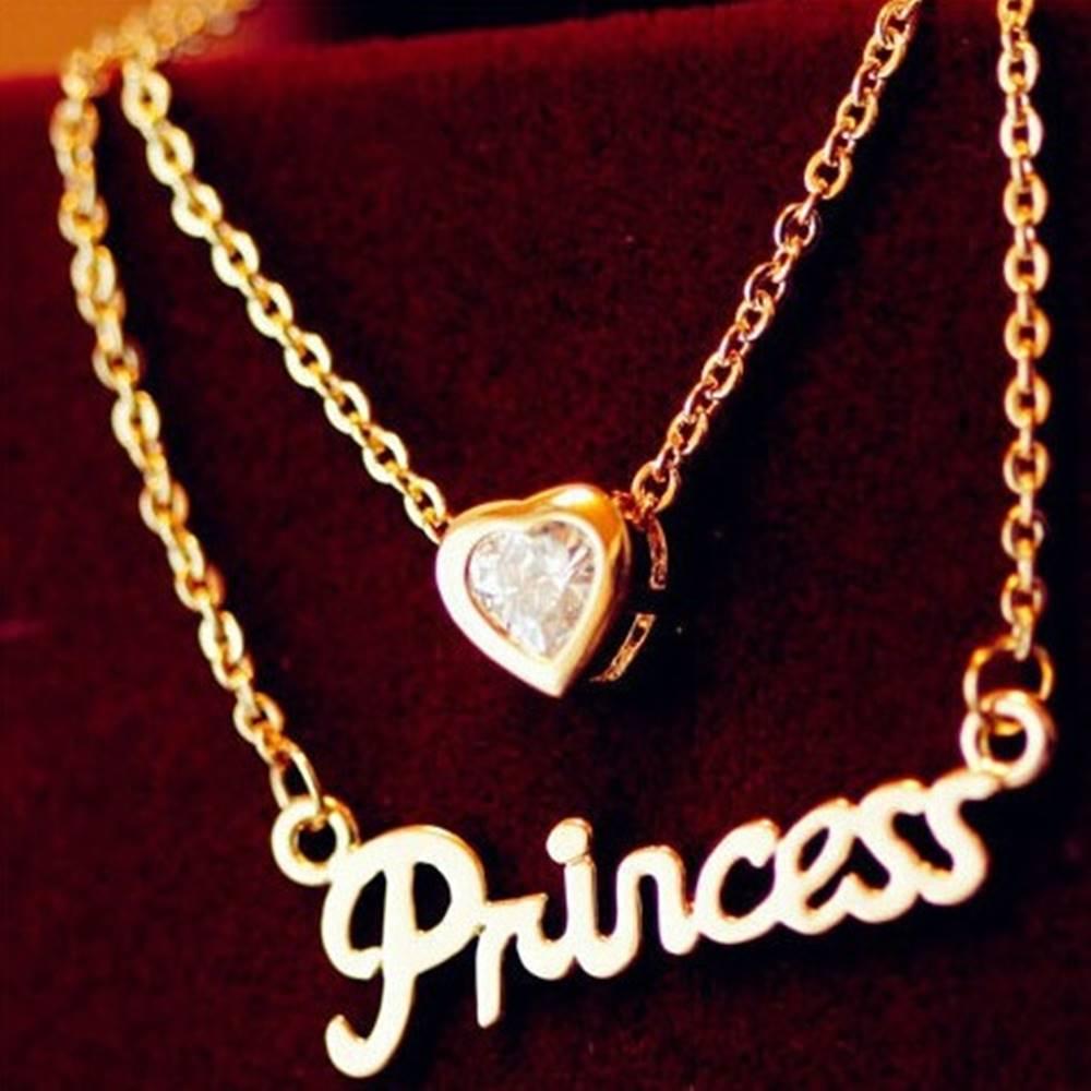Izmael Náhrdelník Love Princess-Zlatá