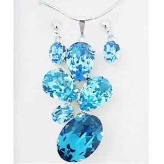 Set Pedra SWAROVSKI-Modrá